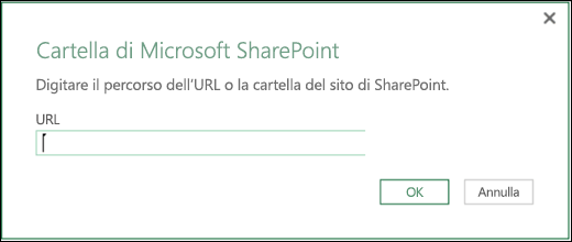 Nuovo connettore per le cartelle di SharePoint in Power BI per Excel