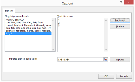 Creare o eliminare un elenco personalizzato per l 39 ordinamento e l 39 inserimento di dati excel - Creare finestra popup ...