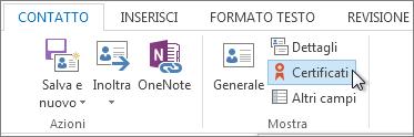 Mostrare i certificati di un utente specifico