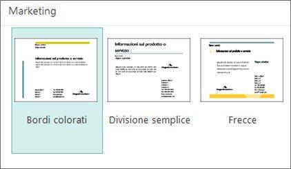 Modelli di cartoline per il marketing in Publisher.