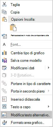Dal menu Word Win32 modifica Alt testo per i grafici