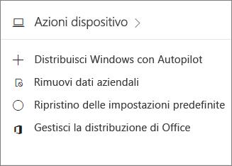 Screenshot della scheda Dispositivi nell'interfaccia di amministrazione