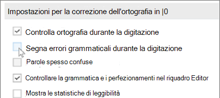 Controllo grammaticale