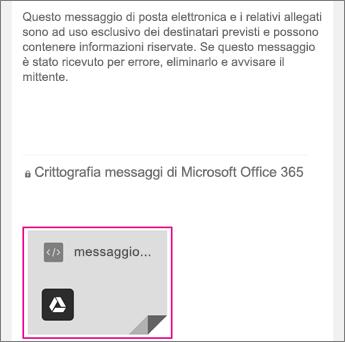 Visualizzatore Crittografia messaggi di Office 365 con Gmail 1