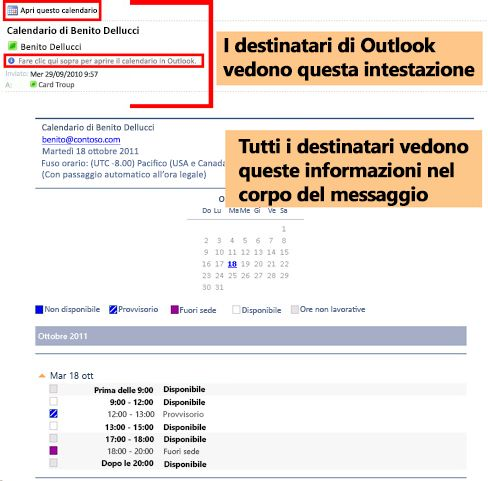 Condividere Calendario Outlook Senza Exchange.Condividere Un Calendario Di Outlook Con Altri Utenti