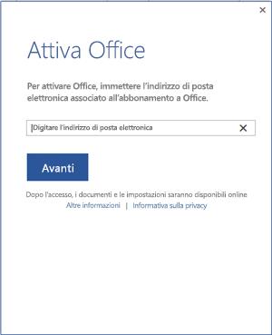 Attivare Office