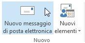 Comando Nuovo messaggio di posta elettronica sulla barra multifunzione