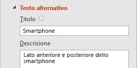 Caratteristica di testo alternativo per le immagini di PowerPoint