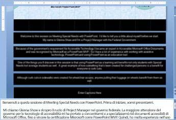 Inserimento di testo in un organigramma