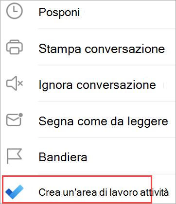 Visualizza le opzioni di posta