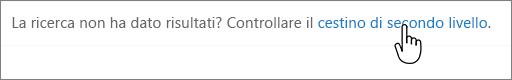 Collegamento al Cestino di secondo livello di SharePoint 2016