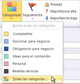 Comando Tutte le categorie nella barra multifunzione
