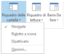 Nel menu Riquadro delle cartelle è selezionata la visualizzazione Normale.