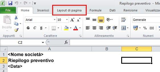 Piè di pagina in una diapositiva