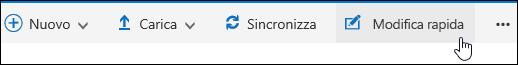 Usare Modifica rapida per modificare una visualizzazione personalizzata di una raccolta documenti