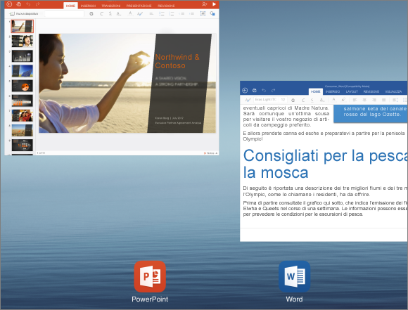 Chiusura dell'app PowerPoint per iPad