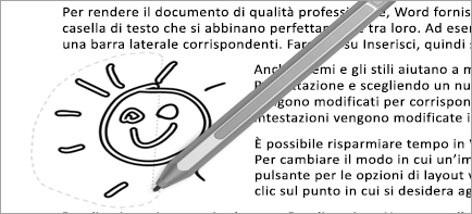Mostra la selezione con lazo nel documento