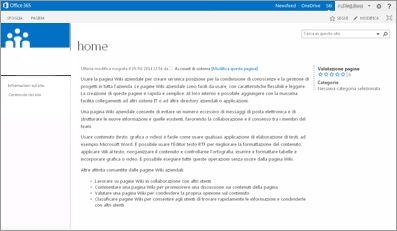 Modello di sito Wiki aziendale