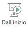 Selezionare dall'inizio nella scheda Visualizza della barra multifunzione per avviare una presentazione