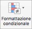 Menu Formattazione condizionale