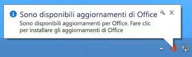 Sono disponibili aggiornamenti di Office