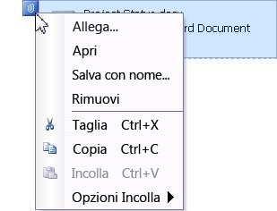 Menu File allegato