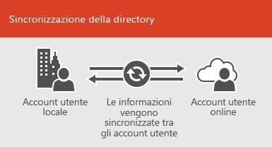 Usare la sincronizzazione della directory per mantenere sincronizzate le informazioni degli account locali e di quelli online
