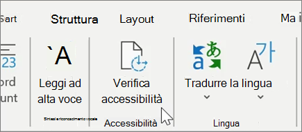 Controllare l'Accessibilità in Word1