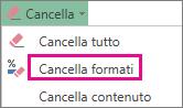 Cancella formati