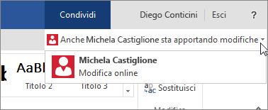 Autori in Word Online