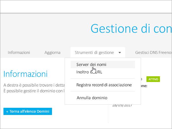 Freenom - Impostazione dei server dei nomi_C3_2017617135123