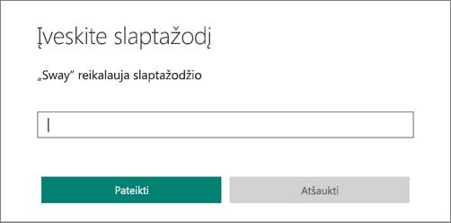 Finestra di dialogo per l'immissione di una password