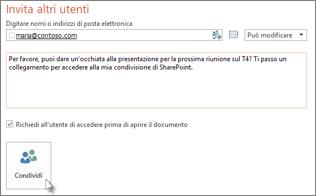Condividere una presentazione in SharePoint
