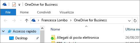 Client desktop di OneDrive for Business precedente