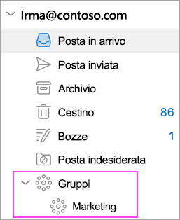 Outlook Groups è disponibile in Office 365.