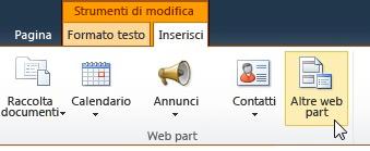 Scegliere Altre web part