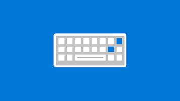 Simbolo di tastiera con simboli per posta elettronica, calendario, attività e contatti