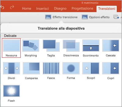 transizioni per powerpoint