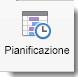 Icona Pianificazione visualizzata nella scheda Organizzazione riunione.
