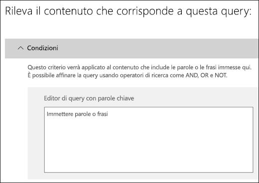 Editor di query