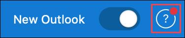 Screenshot che mostra l'icona della Guida quando è disponibile un aggiornamento del supporto