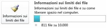 Contatore documenti di SharePoint Workspace, utilizzando meno di 7500 documenti