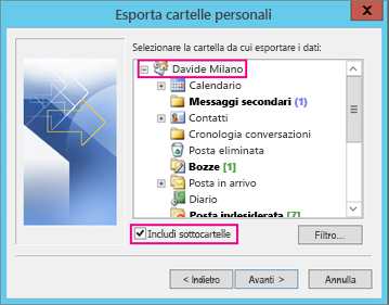 contatti da outlook su iphone