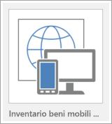 Pulsante per la creazione di un modello di app Web di Access