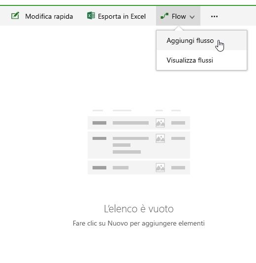 Creare un flusso in un elenco di SharePoint Online.