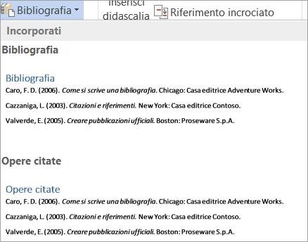Raccolta bibliografie