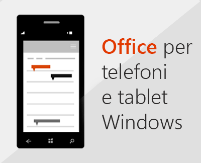 Fare clic per configurare le app di Office Mobile in un dispositivo Windows 10