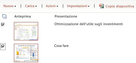 Esempio di raccolta diapositive