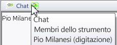 finestra popup che indica lo stato della chat