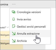 Fare clic su Annulla estrazione per annullare le modifiche apportate al file ed eliminare l'estrazione